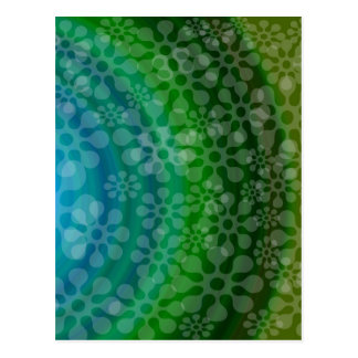 Trébol translúcido del diseño del arco iris de los postal
