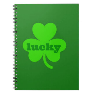 Trébol verde afortunado libro de apuntes