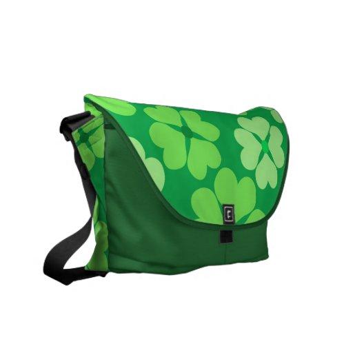 Trébol verde bolsa messenger