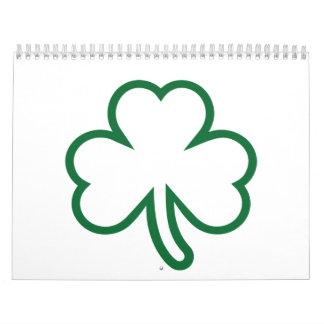 Trébol verde calendario