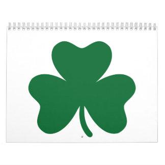 Trébol verde calendarios