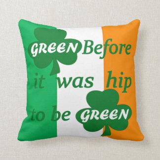 Trébol verde cojín decorativo