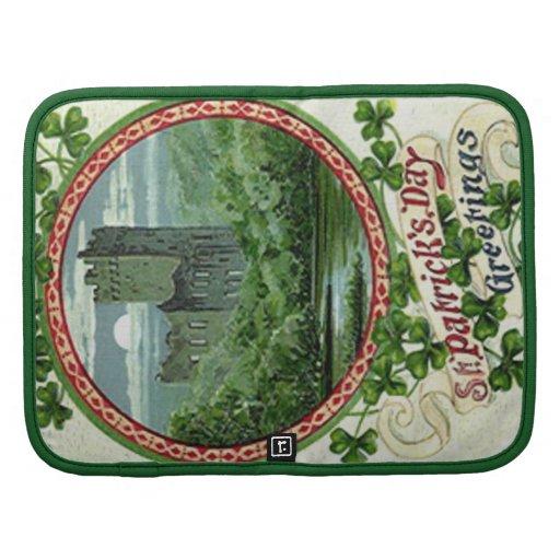 Trébol verde de Irlanda del castillo de la lisonja Organizadores