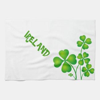 Trébol verde de Irlanda Toallas De Cocina
