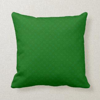 * Trébol verde de Swirly modelado Cojín Decorativo