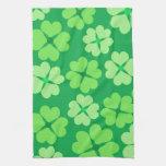 Trébol verde toalla de cocina