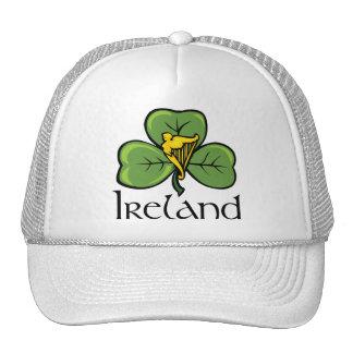 Trébol y arpa de Irlanda Gorros