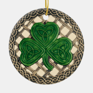 Trébol y beige céltico del ornamento de los nudos ornamente de reyes