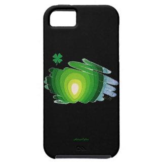 trébol y espirales del caso del ambiente iPhone5 iPhone 5 Protectores