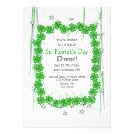 Trébol y estrellas del día 4-Leaf de St Patrick Comunicado Personalizado