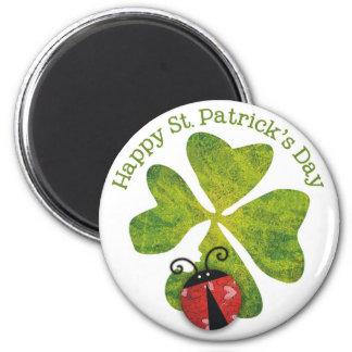trébol y mariquitas del día de St Patrick Iman Para Frigorífico