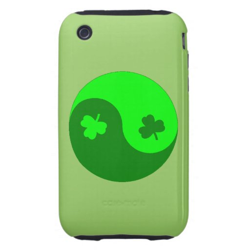 Trébol Yin Yang iPhone 3 Tough Cárcasa