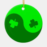 Trébol Yin Yang Ornamento De Navidad