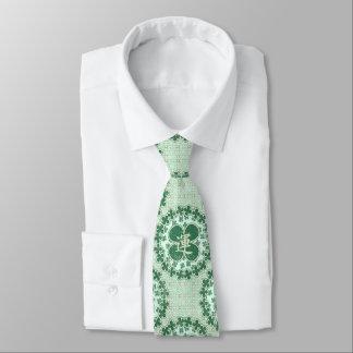 Tréboles afortunados verdes corbatas personalizadas