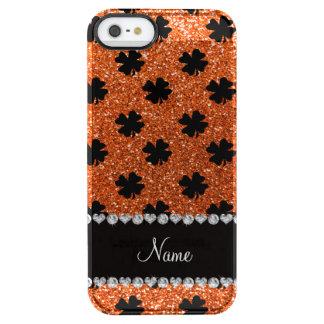 Tréboles anaranjados conocidos personalizados del funda clearly™ deflector para iPhone 5 de uncommon
