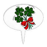 tréboles atados con el arco rojo graphic.png decoración de tarta