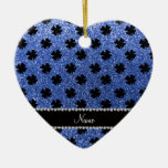 Tréboles azules conocidos personalizados del brill ornamento para reyes magos