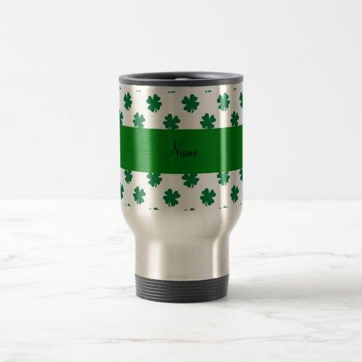 Tréboles conocidos personalizados taza de viaje de acero inoxidable