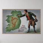 Tréboles de ofrecimiento del irlandés a Irlanda Posters