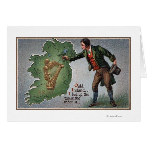 Tréboles de ofrecimiento del irlandés a Irlanda Tarjeta