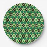 Tréboles del irlandés de Quatrefoil Plato De Papel 22,86 Cm