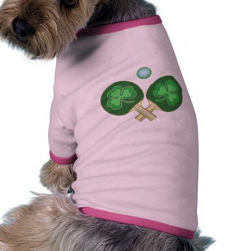 Tréboles del ping-pong ropa de perros