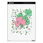 Tréboles delicados rosa y verde iPad 3 pegatinas skins
