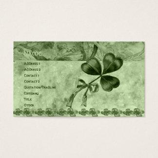 Tréboles hermosos tarjetas de visita