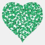 tréboles, Irlanda, irlandés, orgulloso ser Calcomanía De Corazón