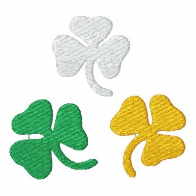 Tréboles irlandeses camiseta polo bordada