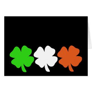 Tréboles irlandeses de la bandera tarjeta pequeña
