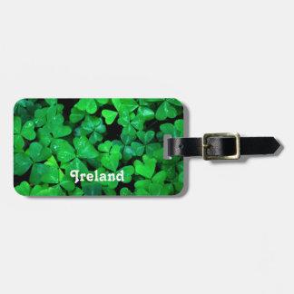 Tréboles irlandeses etiquetas maletas