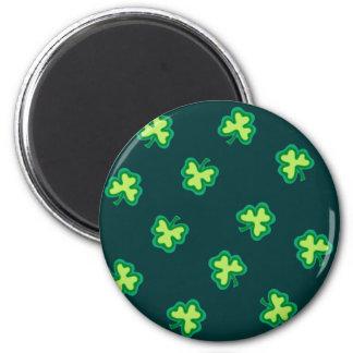 Tréboles irlandeses imán redondo 5 cm