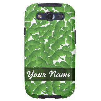 Tréboles irlandeses verdes personalizados samsung galaxy s3 coberturas