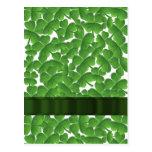Tréboles irlandeses verdes personalizados tarjeta postal