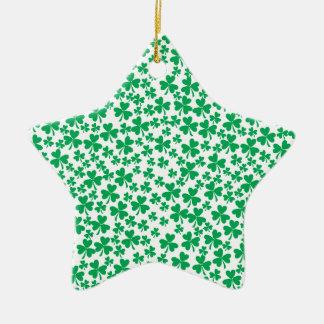 Tréboles múltiples adorno de cerámica en forma de estrella