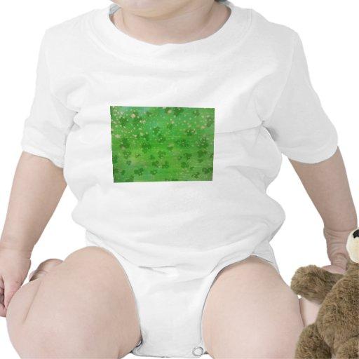 Tréboles Oro-Sacados el polvo Trajes De Bebé