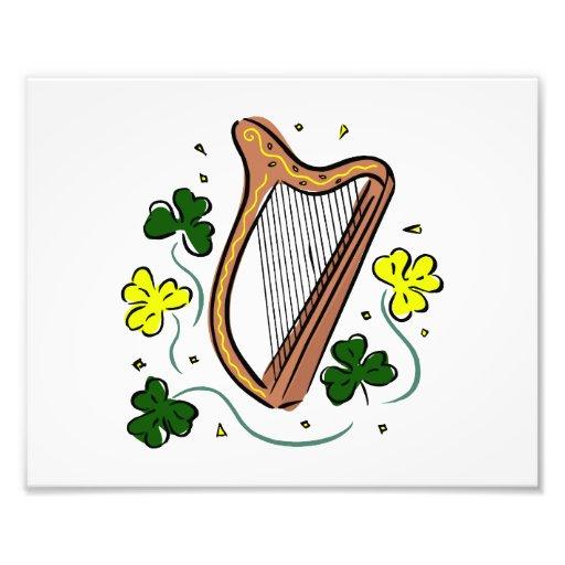 tréboles St Patrick .png de la arpa del revestimie Impresion Fotografica