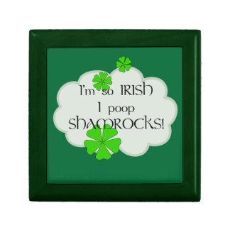 ¡Tréboles tan irlandeses del impulso de I! - Humor Joyero Cuadrado Pequeño
