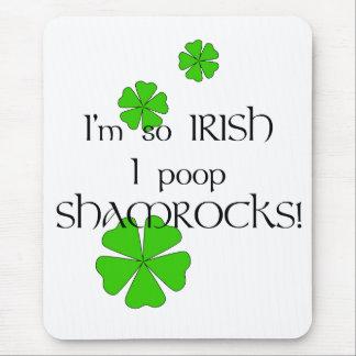¡Tréboles tan irlandeses del impulso de I! Alfombrilla De Raton