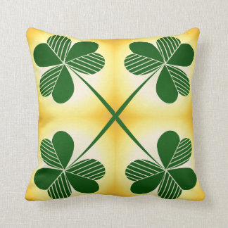 Tréboles verdes almohada