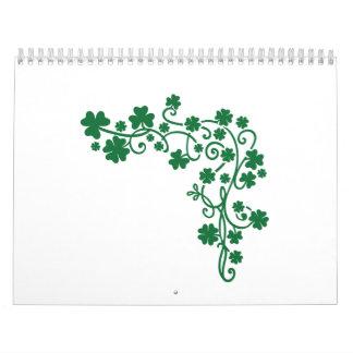 Tréboles verdes calendario