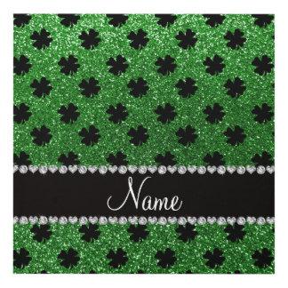 Tréboles verdes conocidos personalizados del cuadro