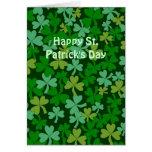 Tréboles verdes irlandeses afortunados de encargo tarjetas