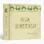 Tréboles y álbum irlandés del boda del oro