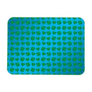 Tréboles y corazones del verde azul imanes flexibles