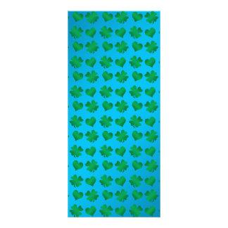 Tréboles y corazones del verde azul plantilla de lona