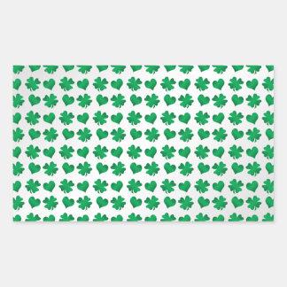 Tréboles y corazones verdes blancos rectangular altavoz