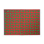 Tréboles y corazones verdes rojos iPad mini carcasas