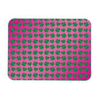 Tréboles y corazones verdes rosados iman flexible